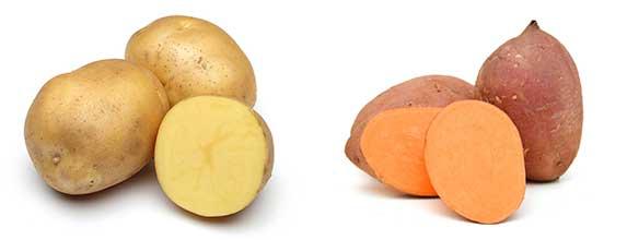 potato and sweet potato
