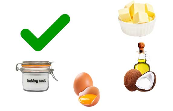 Ingredients to use in coconut cookies