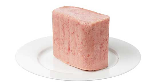 Luncheon meat for dogs