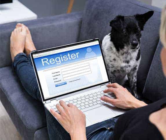 dog being register